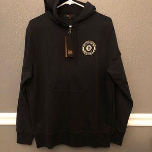 Frye | black zip up hoodie NWT